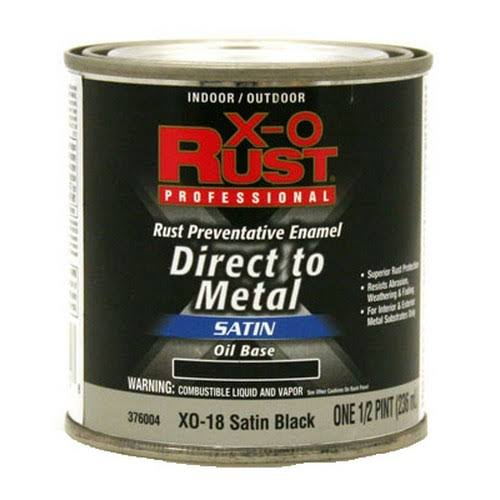 X-O Rust Preventative Enamel - Satin Black, 1/2pt