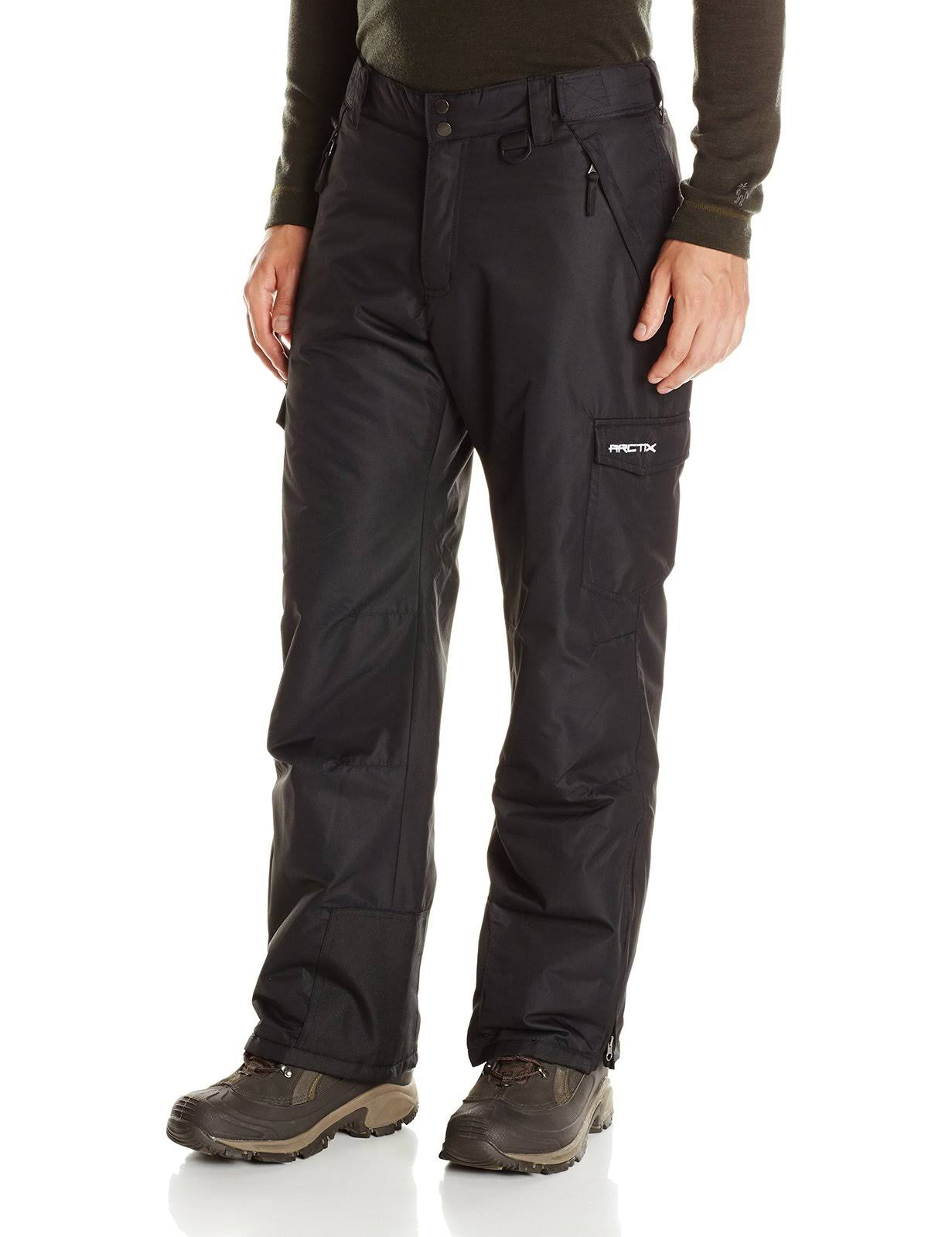 Arctix Men's Classic Cargo Snow Pants - Black, Medium