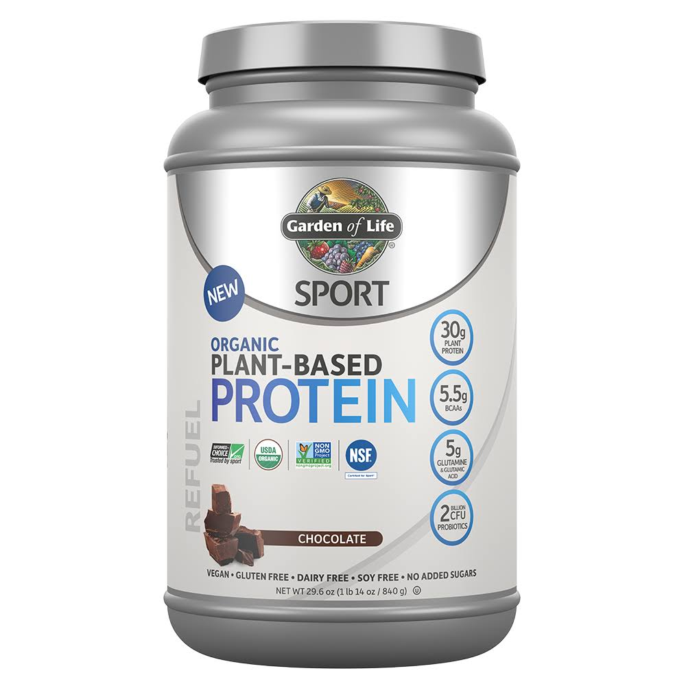 Garden of Life Sports Organic Plant Based Protein Shake Vegan Dairy Free Chocolate 840g