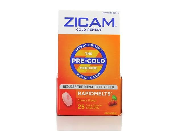 Zicam Cold Remedy Rapidmelts - Cherry, 25 Quick Dissolve Tablets