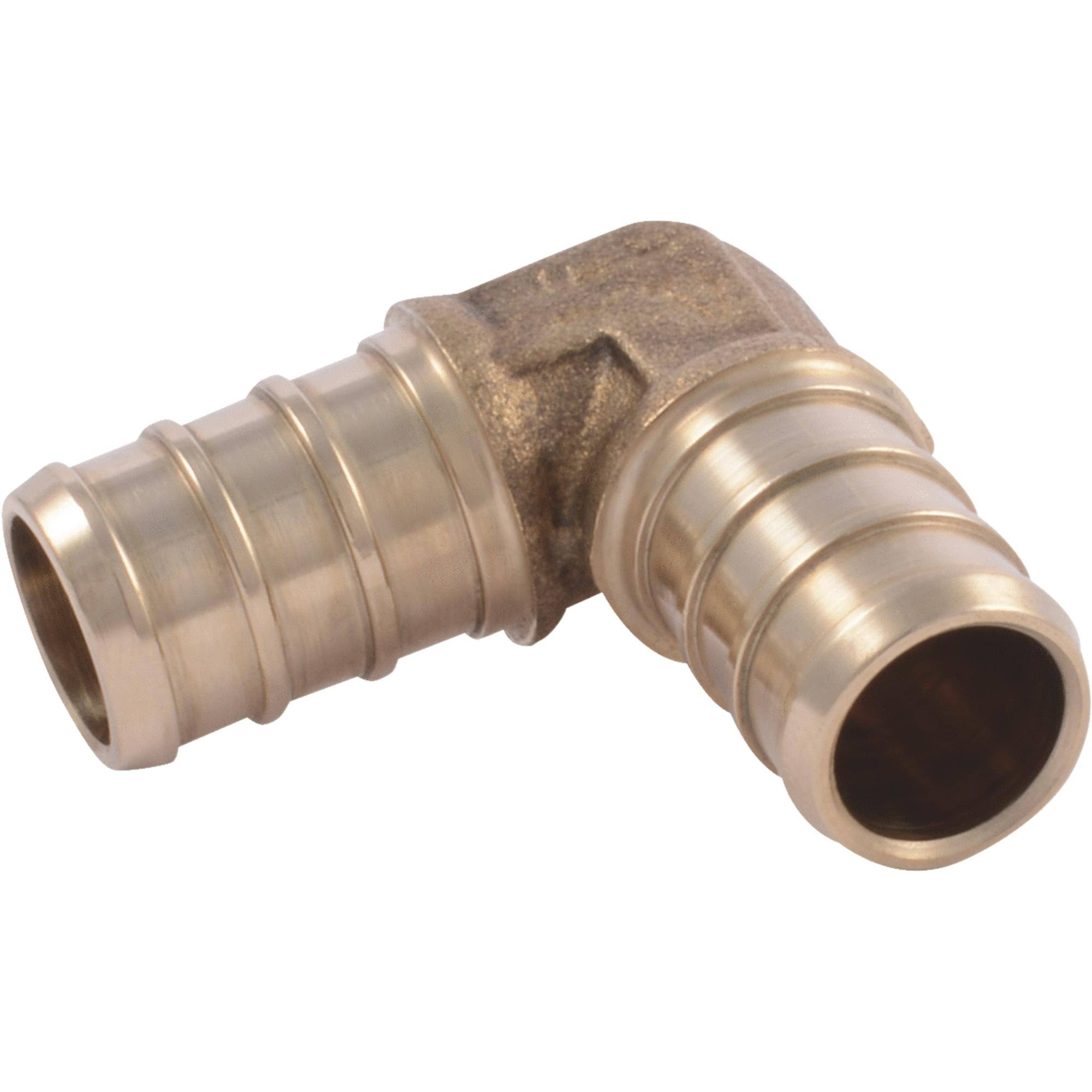 "SharkBite Brass PEX 90 Degree Barb Elbow - 1/2"" x 1/2"""