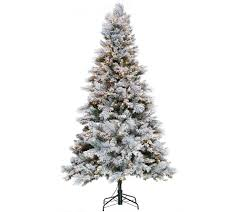 Bethlehem Lights Christmas Trees Qvc by Hallmark 7 5 U0027 Snowdrift Spruce Tree With Quick Set Technology