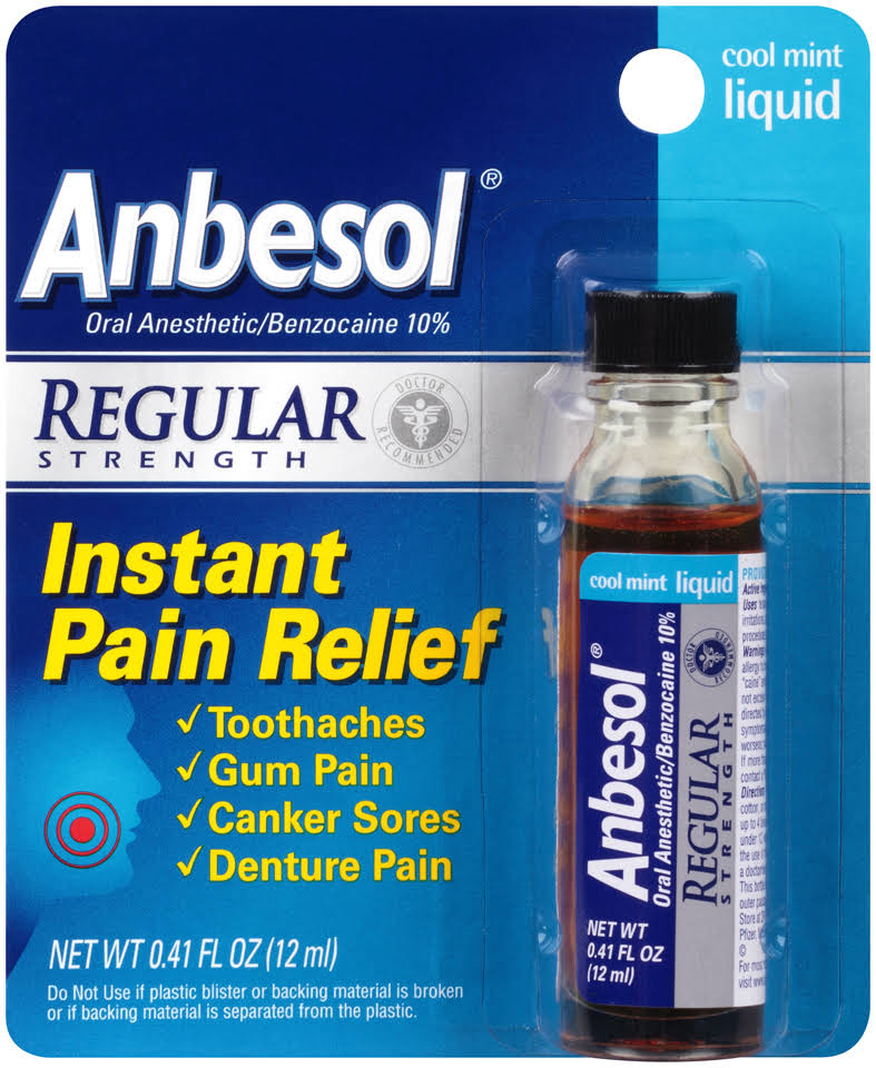 Anbesol Liquid Oral Pain Relief - Cool Mint - 0.41 oz