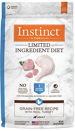 Instinct Limited Ingredient Diet Grain Free Recipe Natural Dry Dog Food by Nature's Variety Turkey 22 lb