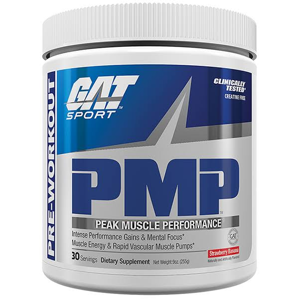 Gat PMP Pre Workout Powder - Strawberry Banana, 30 servings