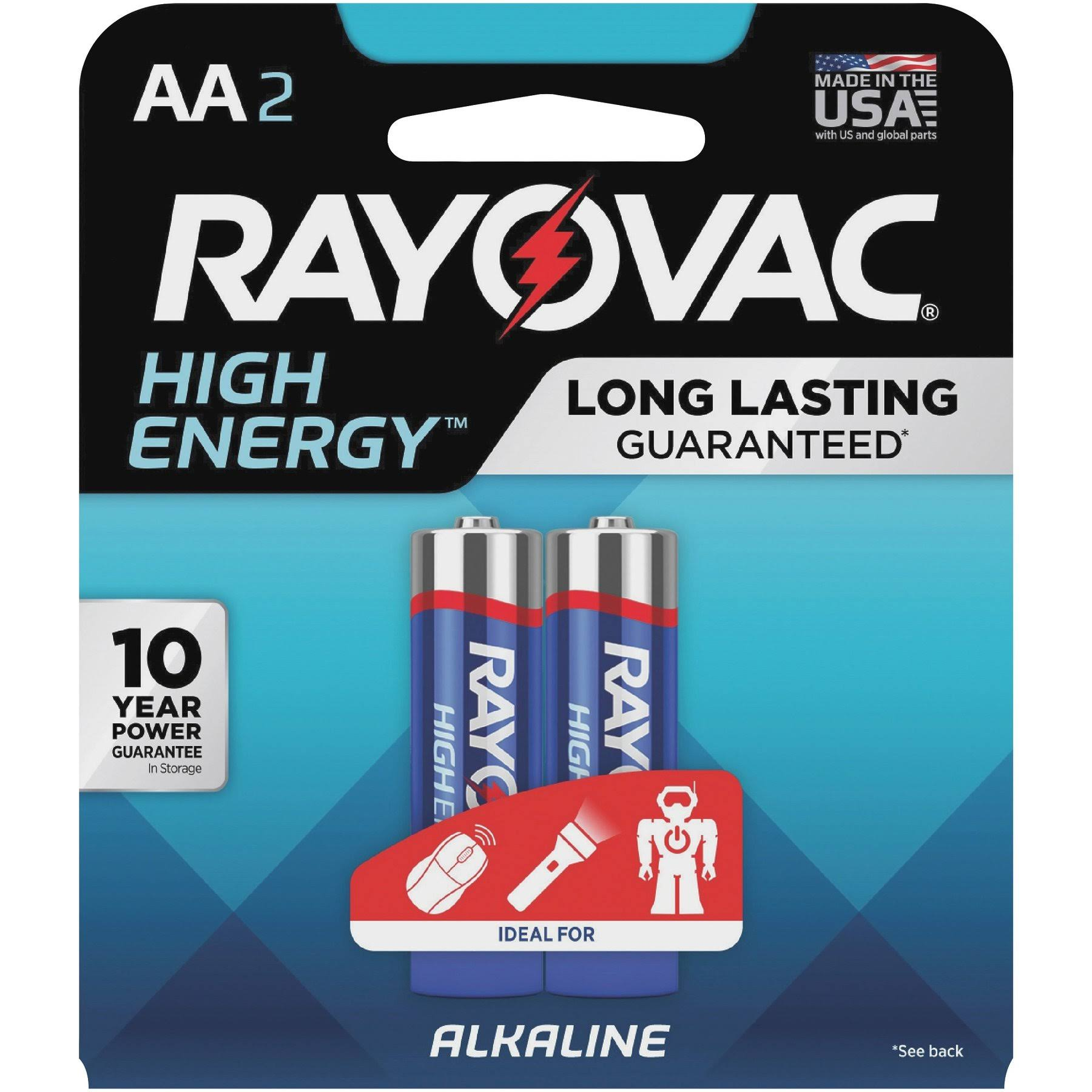 Rayovac Alkaline AA Batteries - 2 Pack