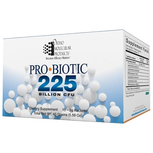 Ortho Molecular Products Probiotic 225 - 15-3g Packets