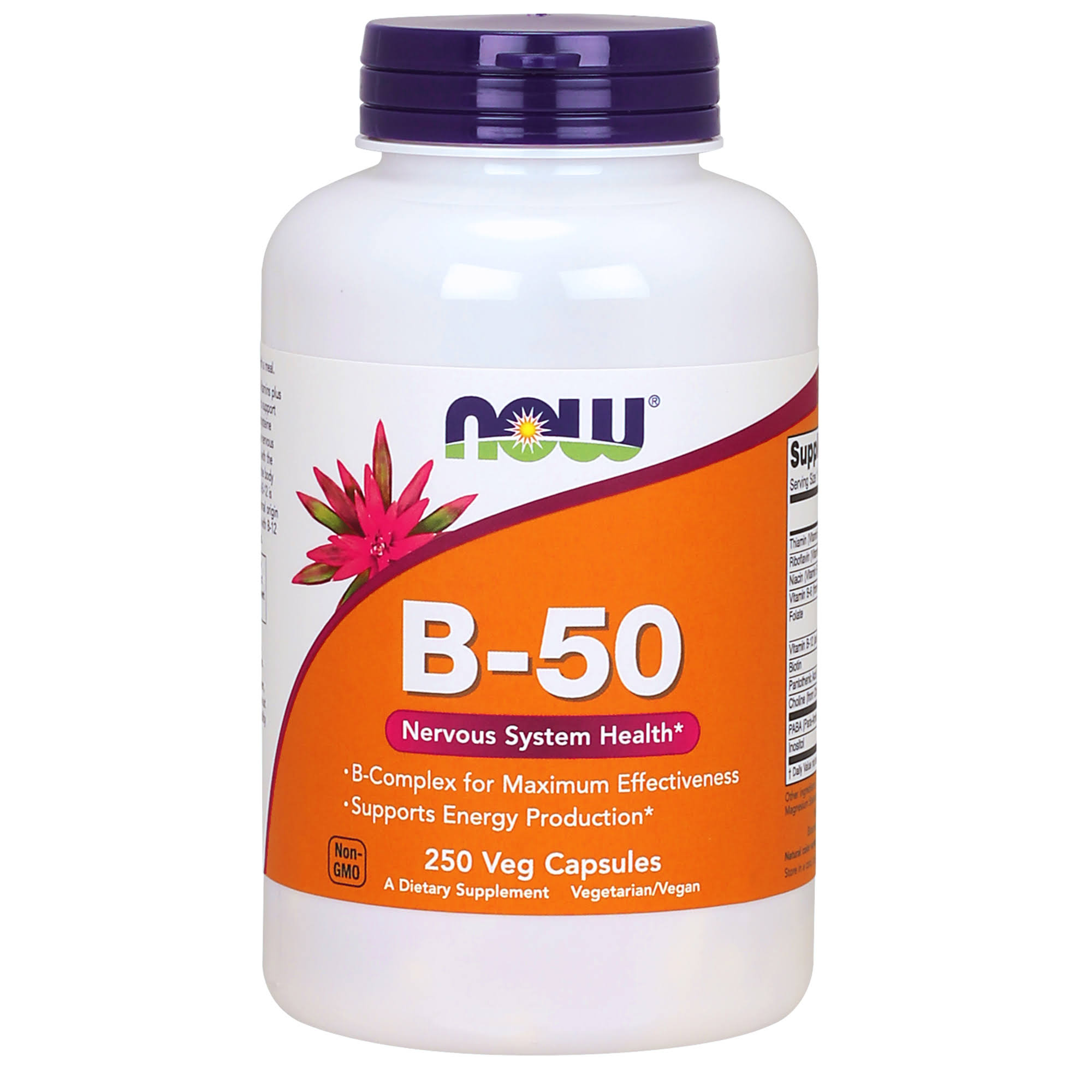 Now Foods B-50 Vitamin B Complex - 250 Capsules