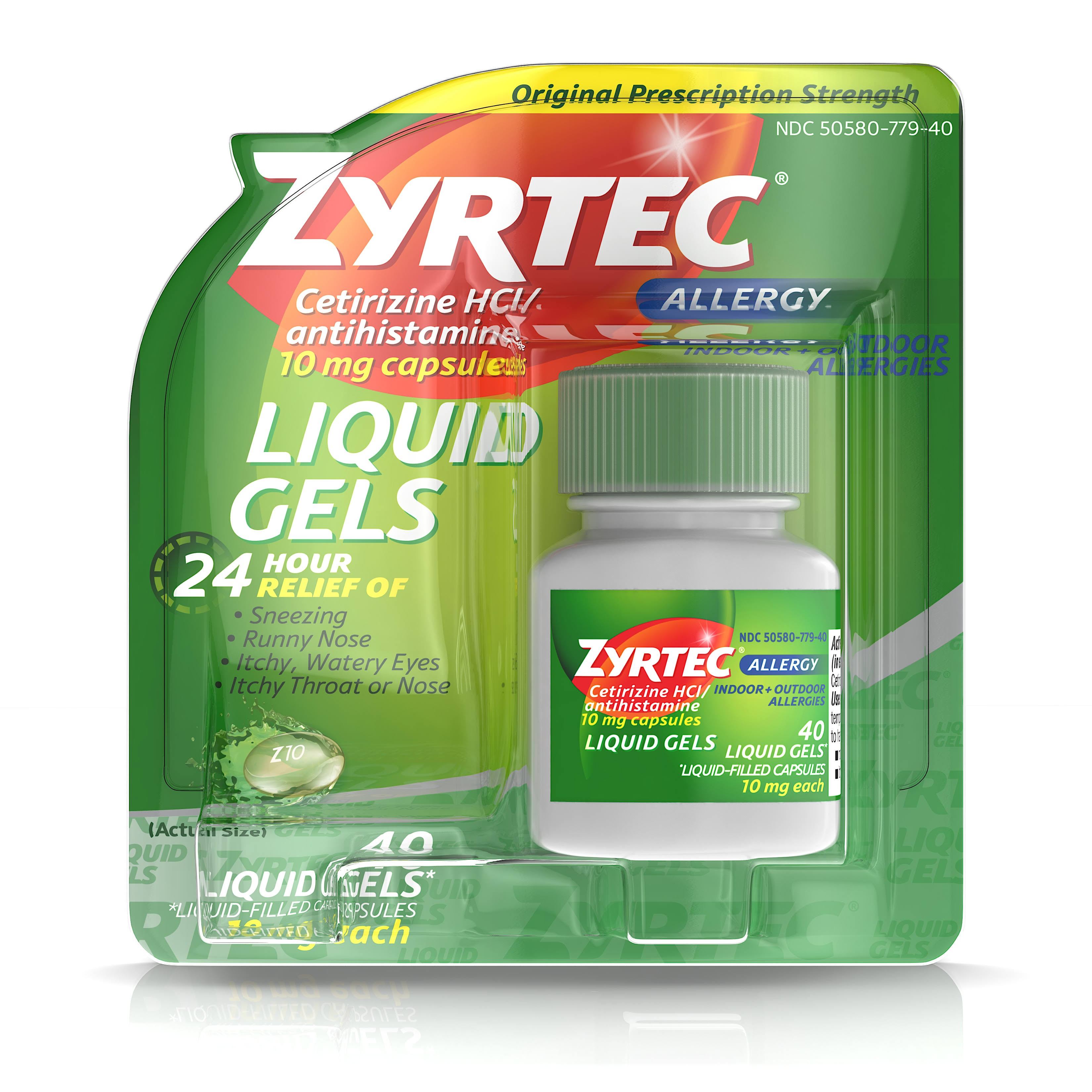 Zyrtec Original Prescription Strength Allergy Liquid Gels - 10mg, 40ct