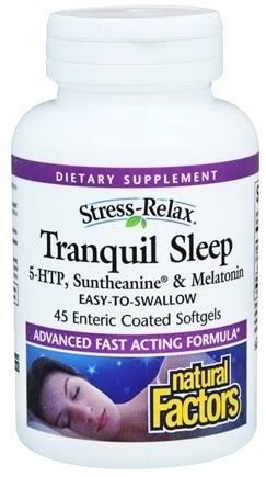 Natural Factors Stress-Relax Tranquil Sleep - 45 Softgels