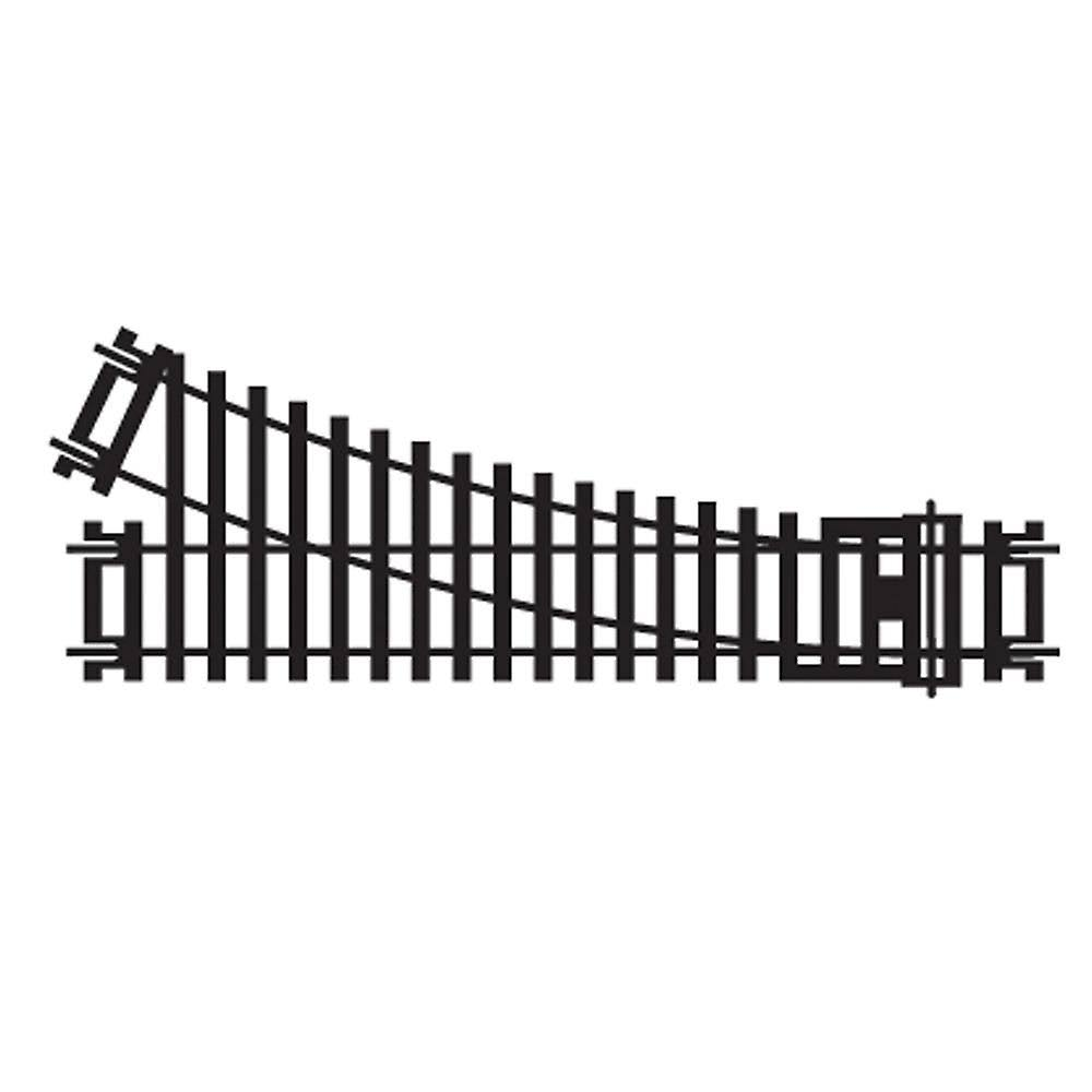 Hornby Right-Hand Standard Point - HO/OO Gauge, 168mm, 2nd Radius, 22.5-Degree