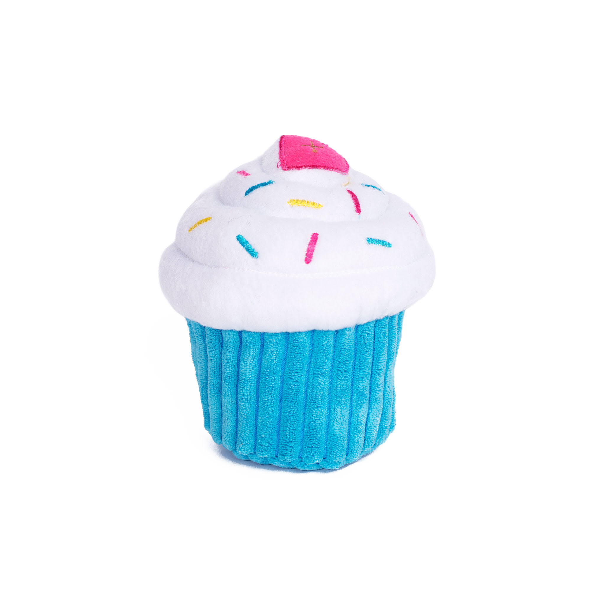 ZippyPaws Blue Cupcake Plush Dog Toy