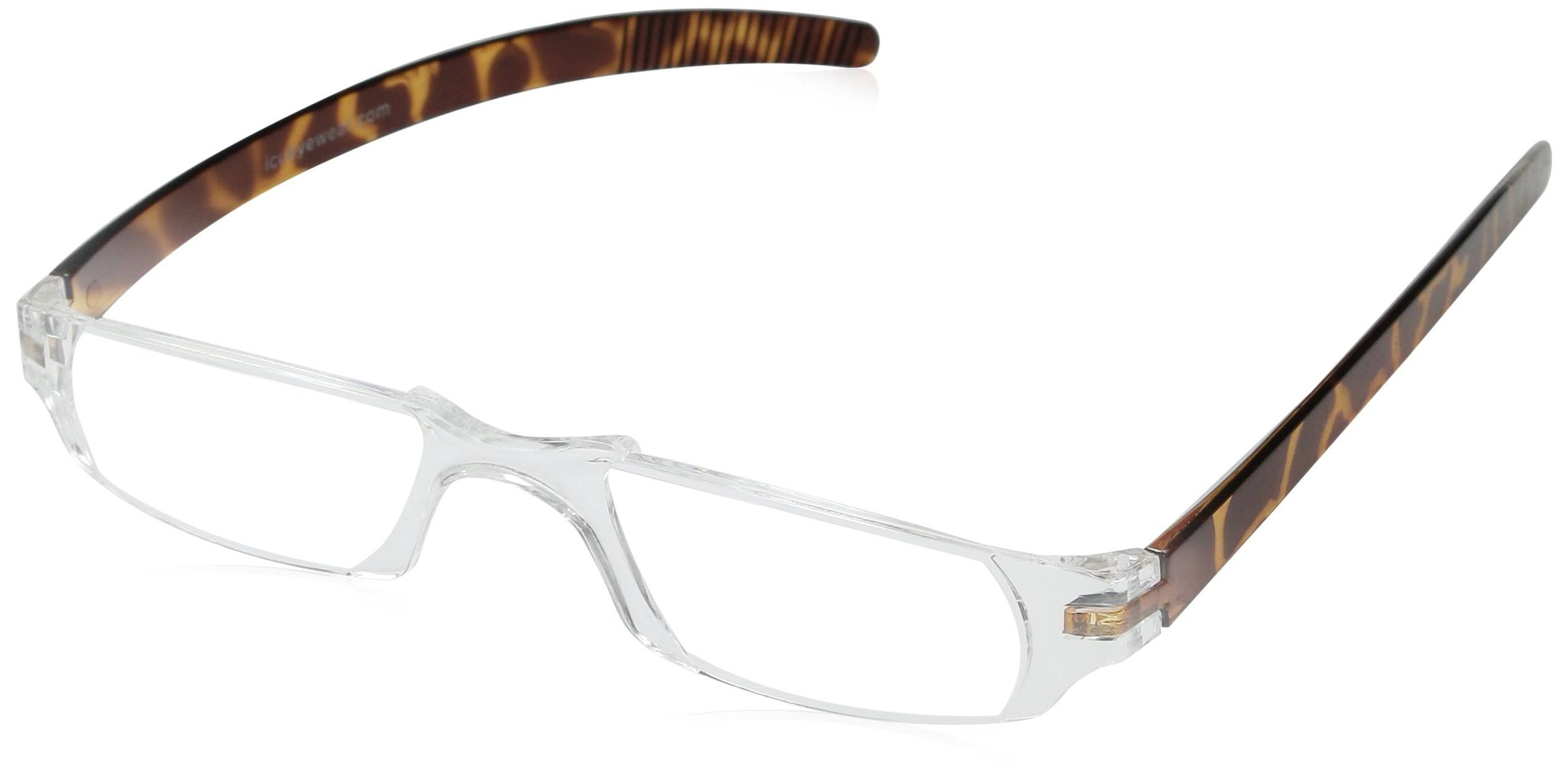 Dr. Dean Edell Slim Vision Reading Glasses - Tortoise, Plus 2.00