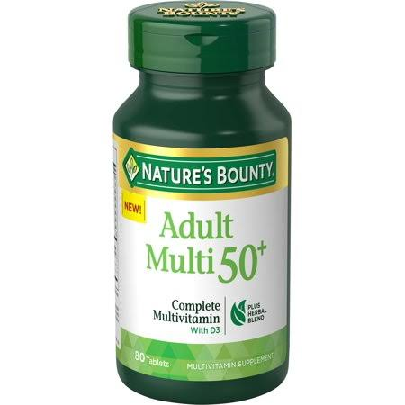 Nature's Bounty Adult Multi 50+ Complete Multivitamin with D3 - 100ct