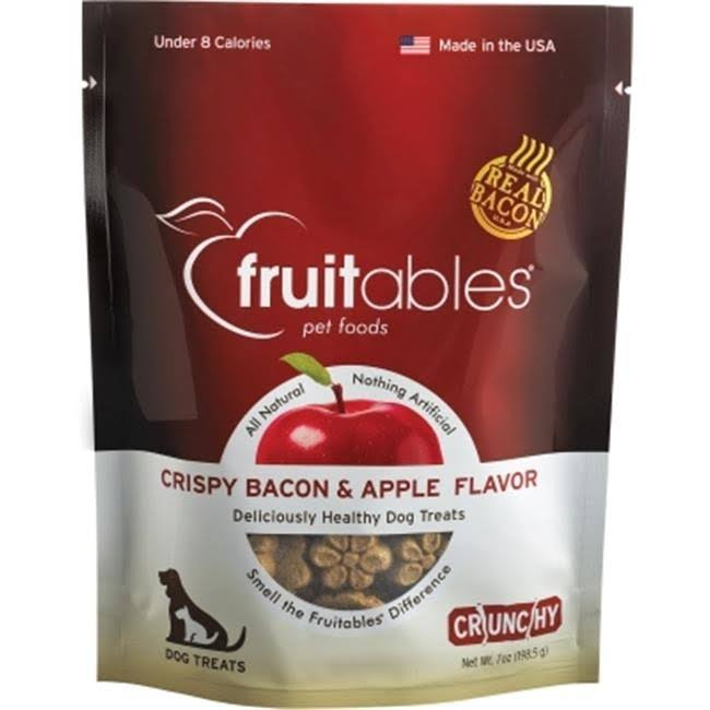 Fruitables Crispy Crunchy Dog Treats - Bacon And Apple
