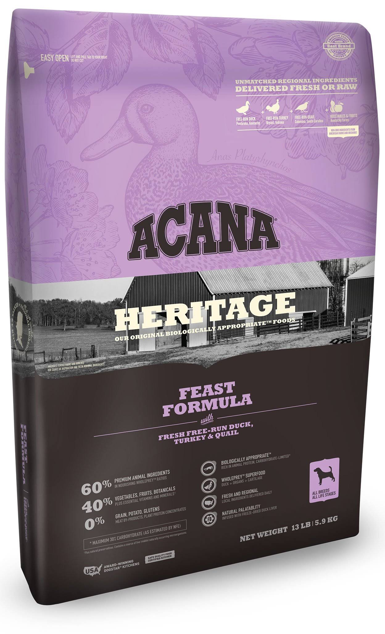 ACANA Heritage Feast Dog Food 12 oz.