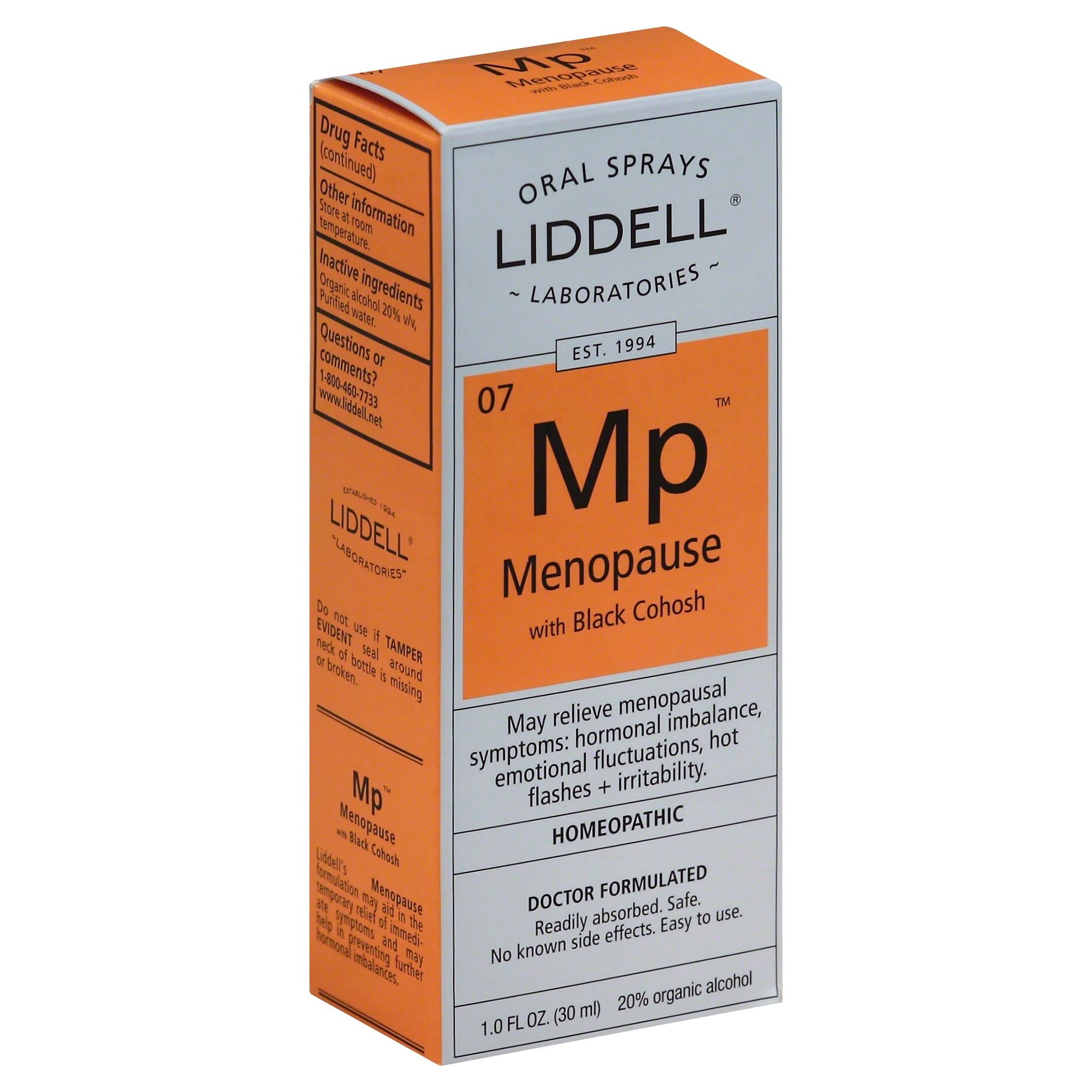 Liddell Laboratories Menopause Spray - with Black Cohosh, 1oz