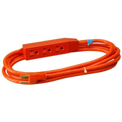 Master Electrician 04003me Outlet Extension Cord - Orange, 3'