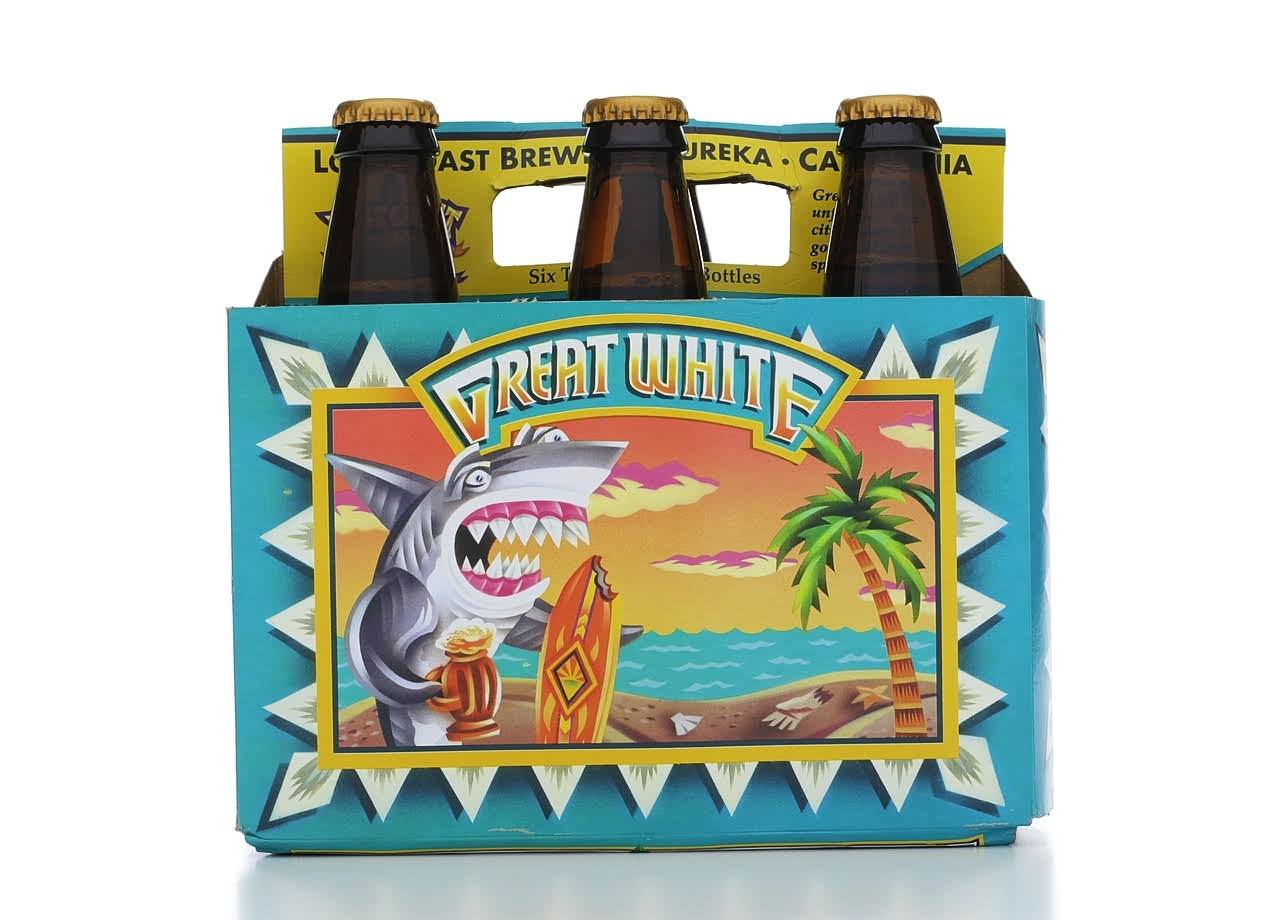 Lost Coast Brewery Great White Beer - 6 pack, 12 oz bottles