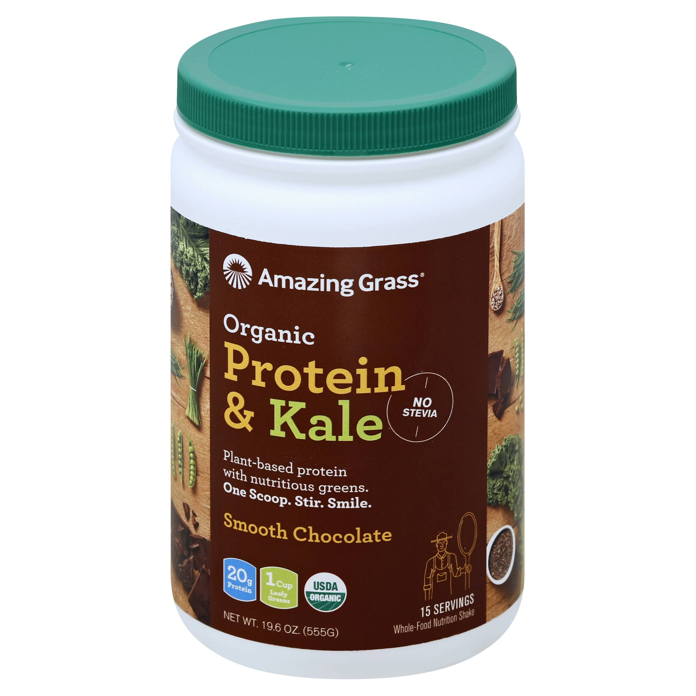 Amazing Grass Organic Vegan Protein and Kale - Chocolate, 19.6oz