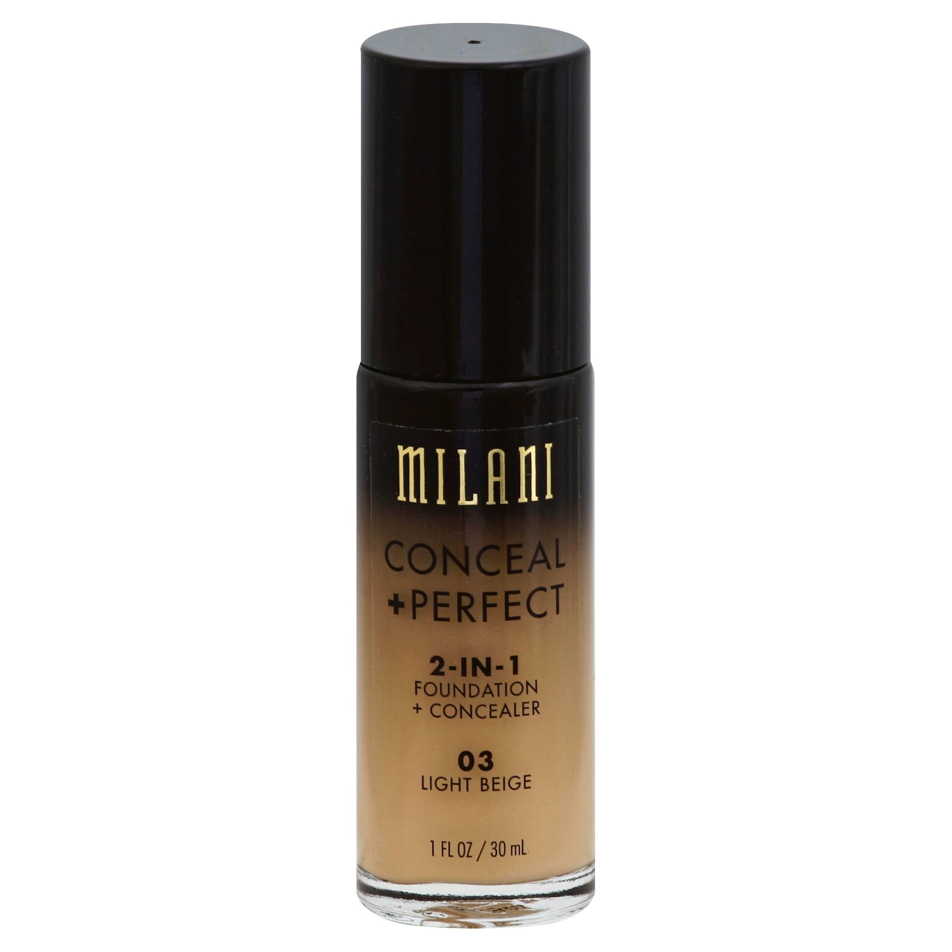 Milani Conceal + Perfect 2-In-1 Foundation + Concealer - 03 Light Beige, 30ml