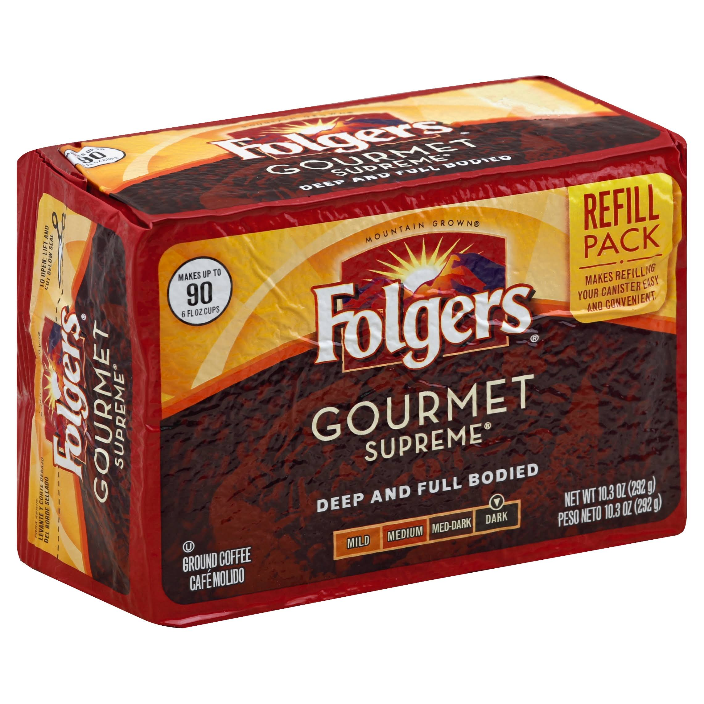 Folgers Gourmet Supreme Ground Coffee Refill Pack - 10.3oz
