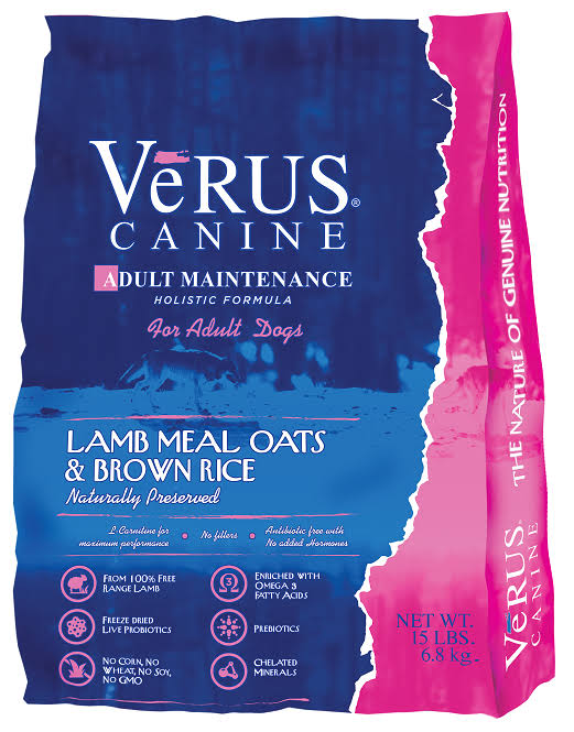Verus Adult Maintenance Formula Dry Dog Food, 15-lb