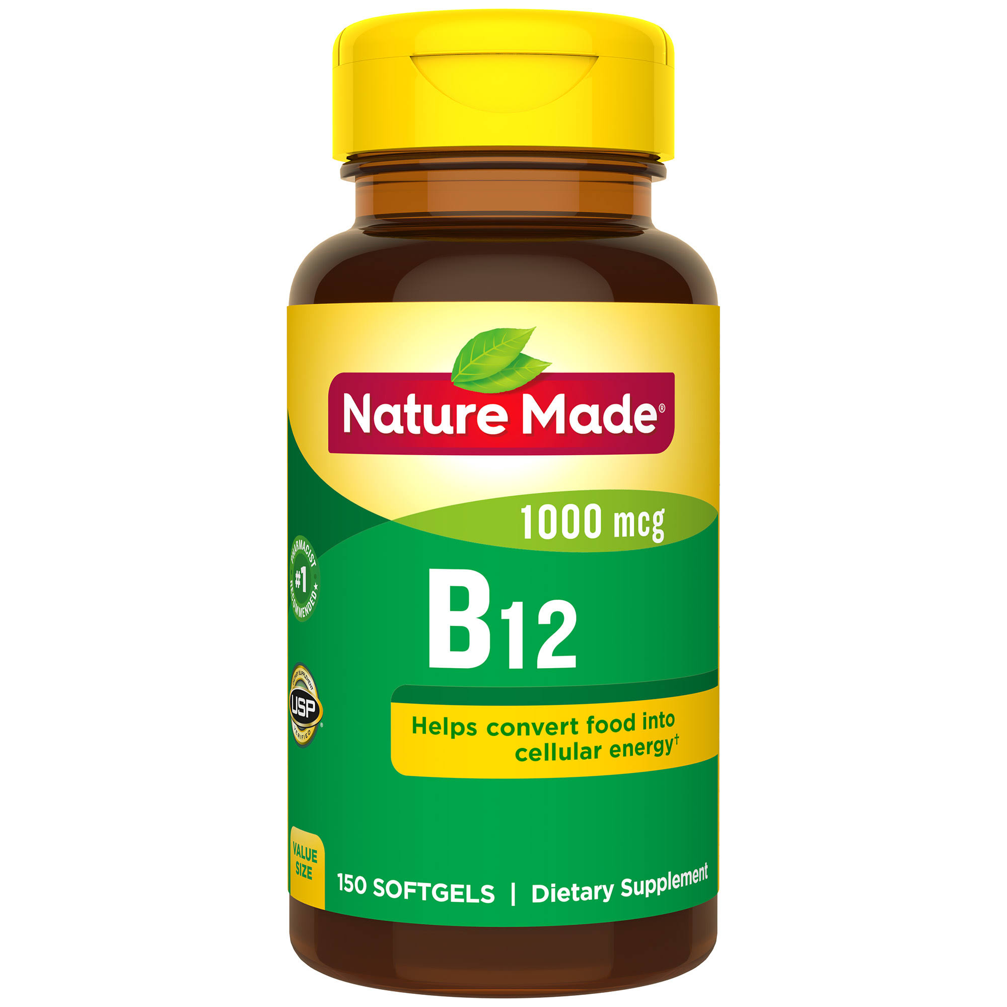 Nature Made Vitamin B-12 Supplement - 150 Softgel, 1000mcg