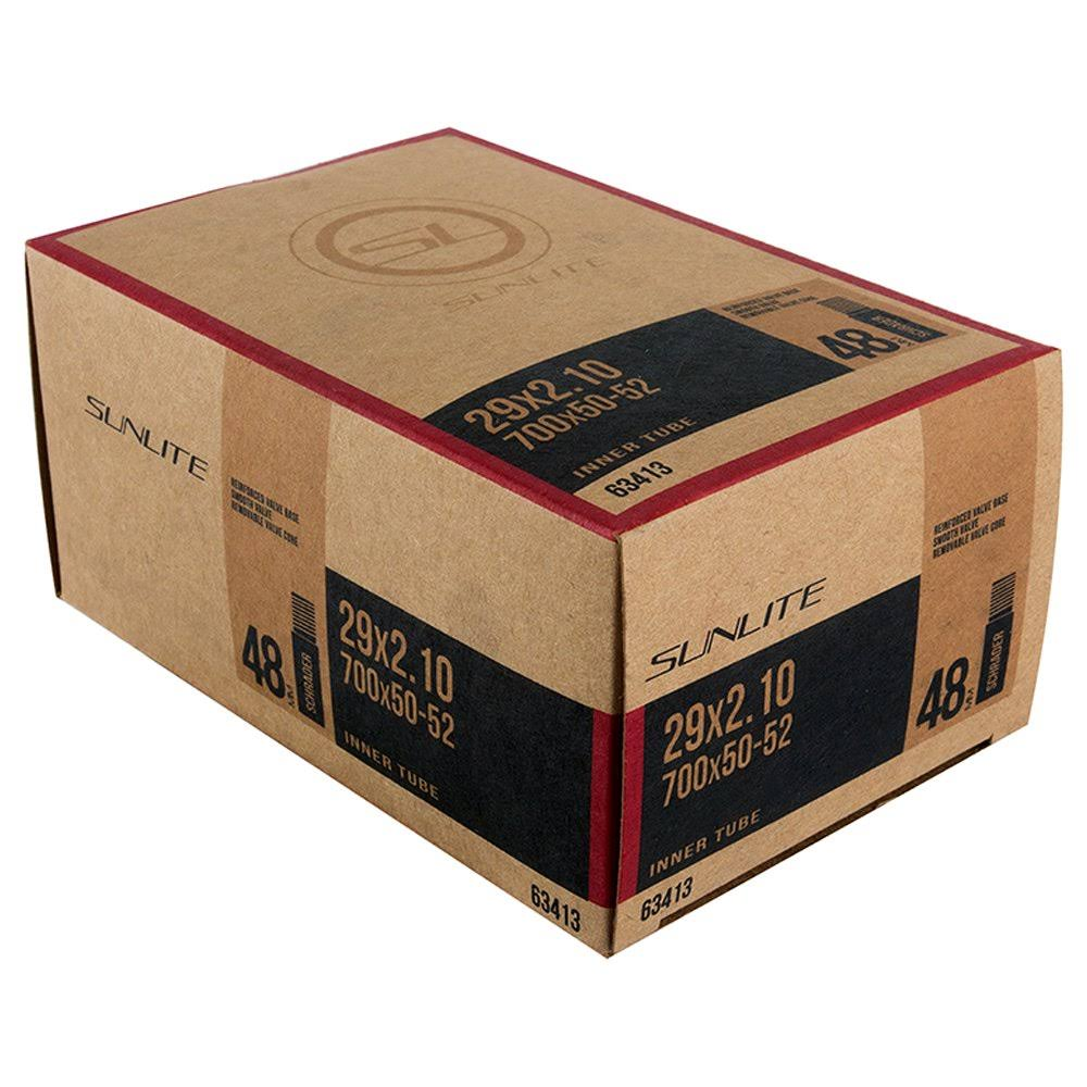 "Sunlite Schrader Valve Bicycle Tube - 29"" x 2.10"", 48mm"