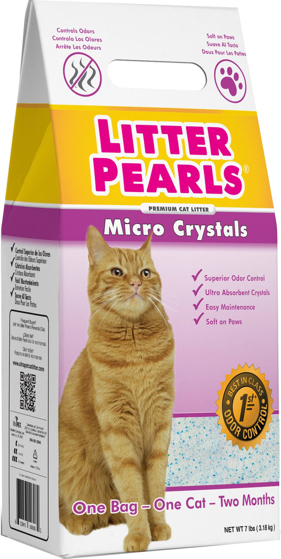 Ultra Pet Cat Litter Pearls Micro Crystals - 7lbs