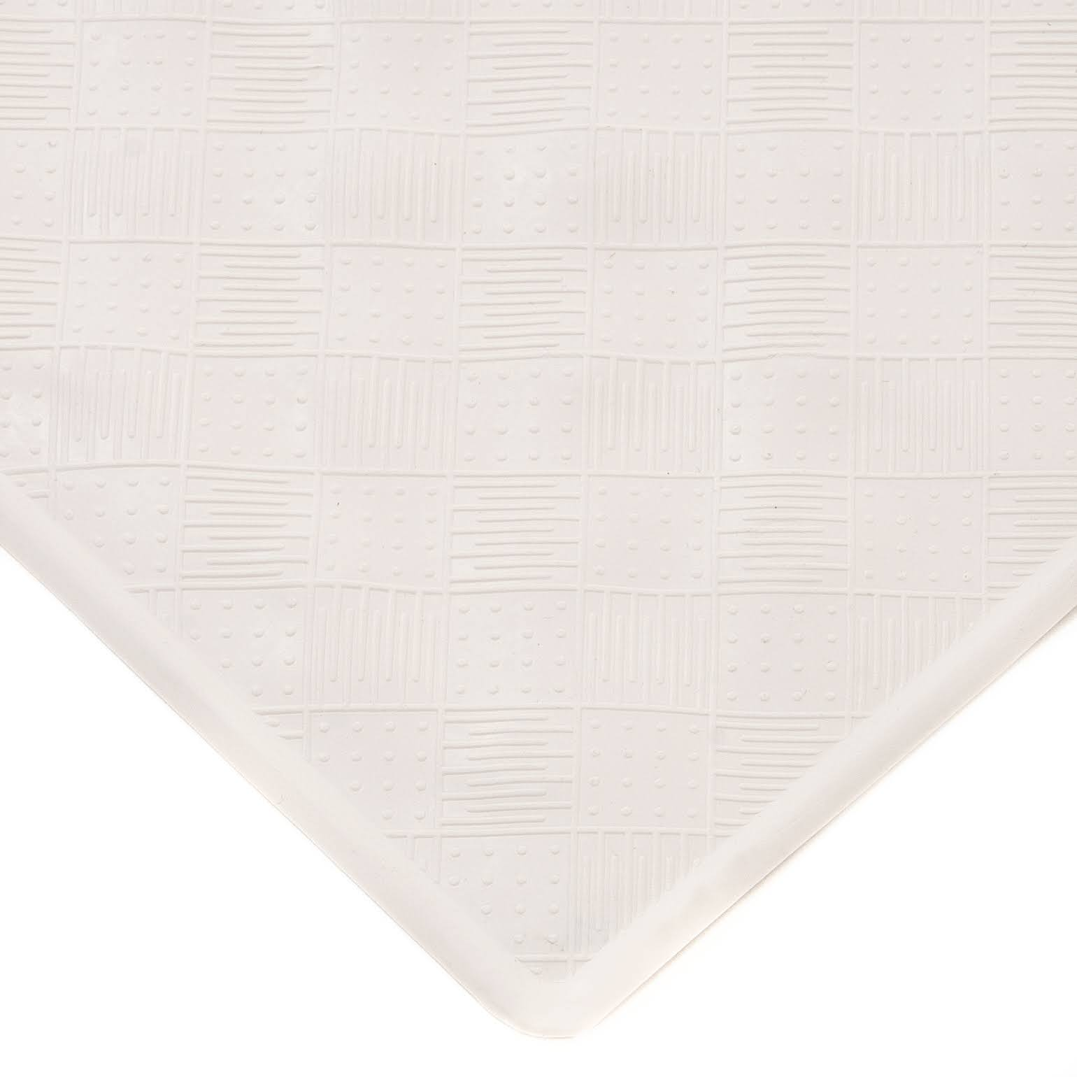 Kenney Rubber Bath Mat, Off White