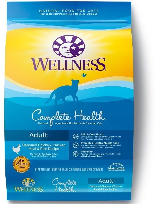 Wellness Complete Health Natural Chicken and Rice Recipe Dry Cat Food - 6-lb