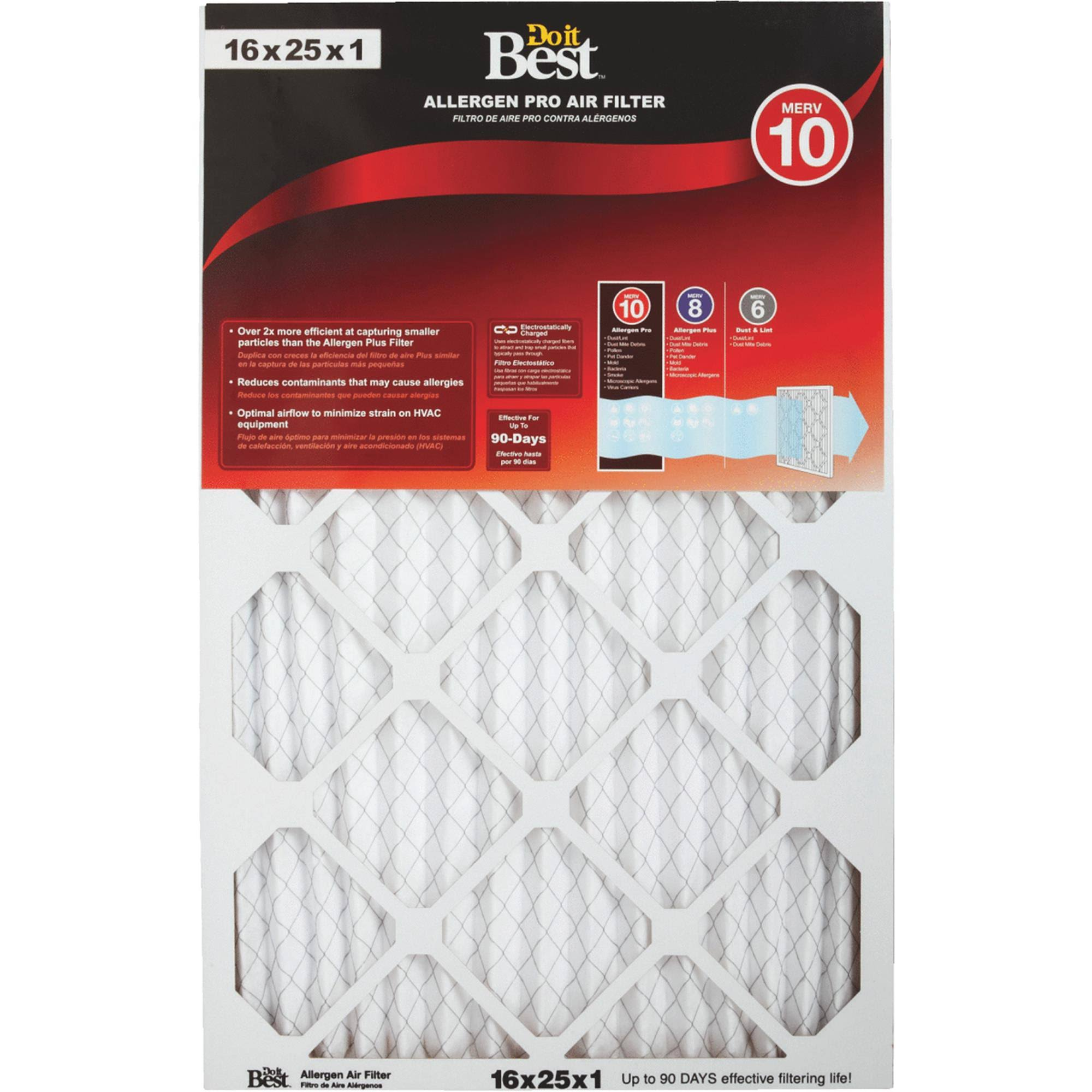 Flanders Do It Best Allergen Pro Furnace Filter 6 Pack