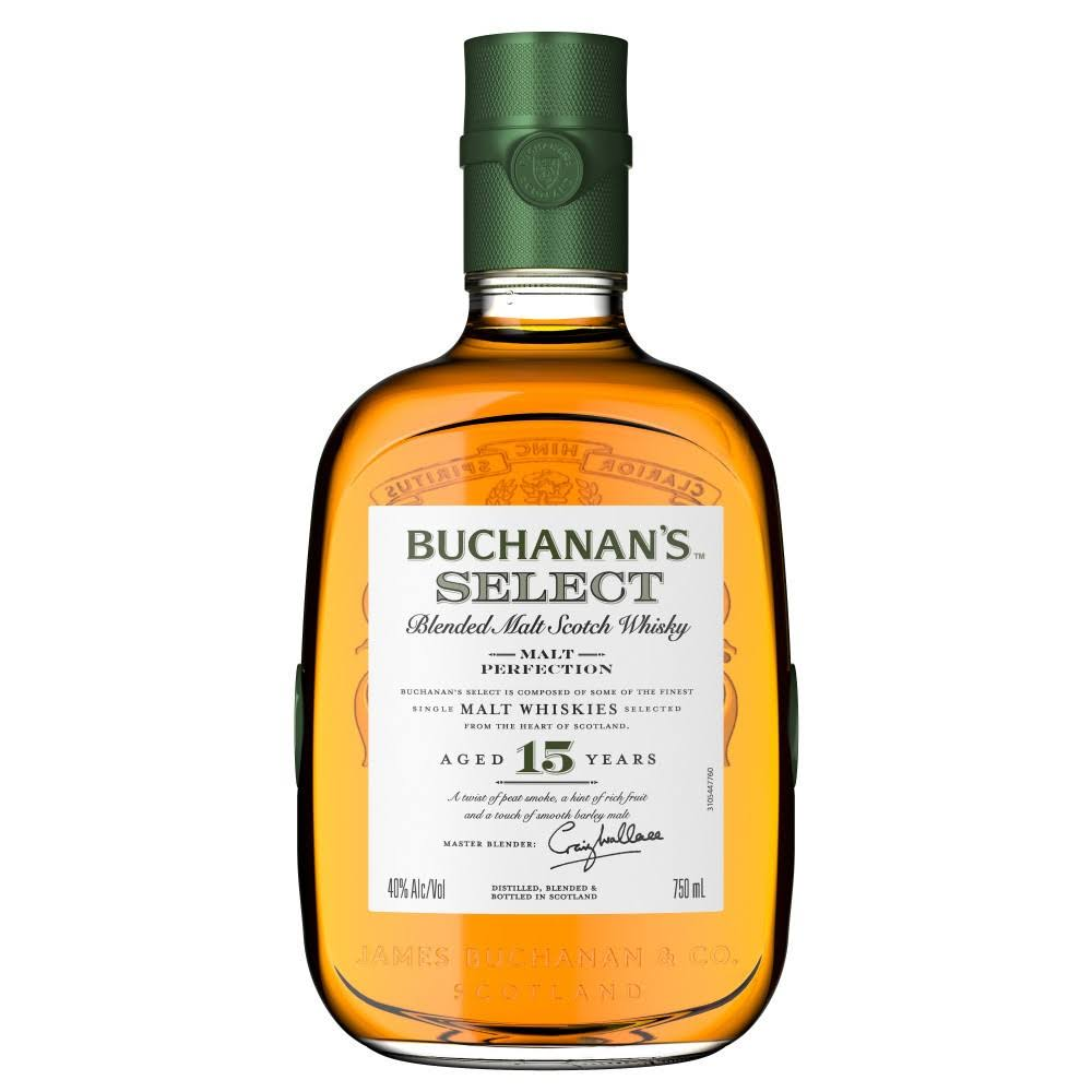 Buchanan's Select 15 Years Old Blended Malt Scotch Whisky, 750 ml