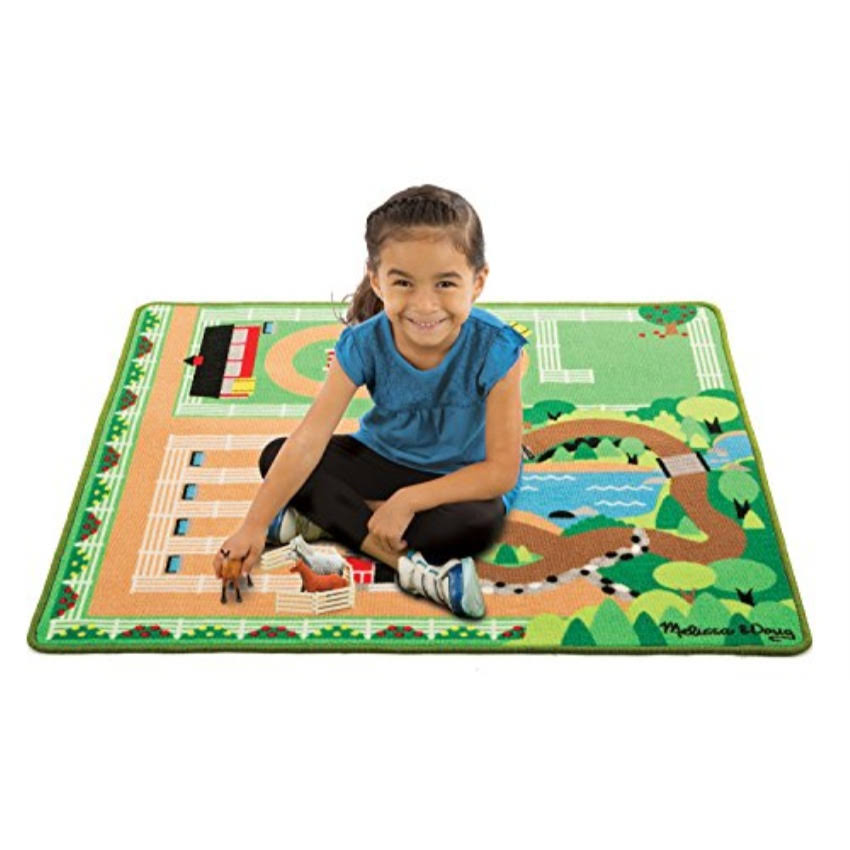 "Melissa and Doug Round The Ranch Horse Activity Rug - 39"" x 36"""