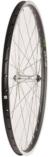 The Wheel Shop - Front 26' Wheel, Evo E-Tour 19 Black / Fm-21-fqr, 36 Stainless Silver Spokes, QR - 041394-01-26