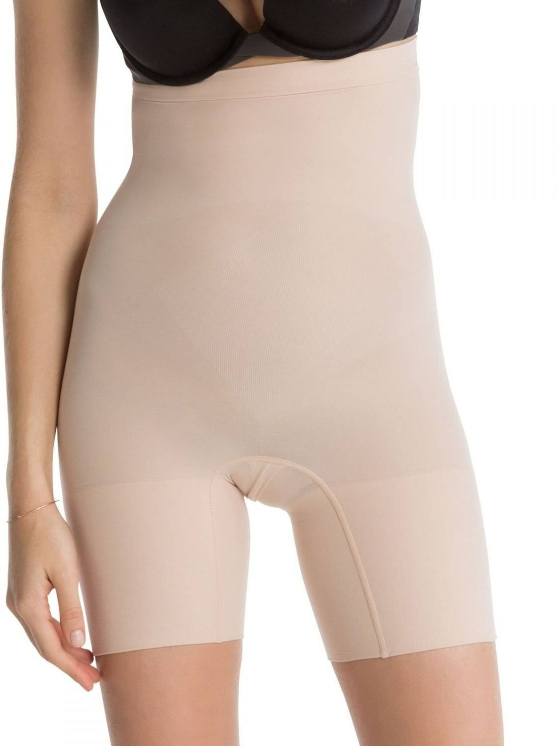 Spanx Women's Higher Power Shorts - Nude, Small