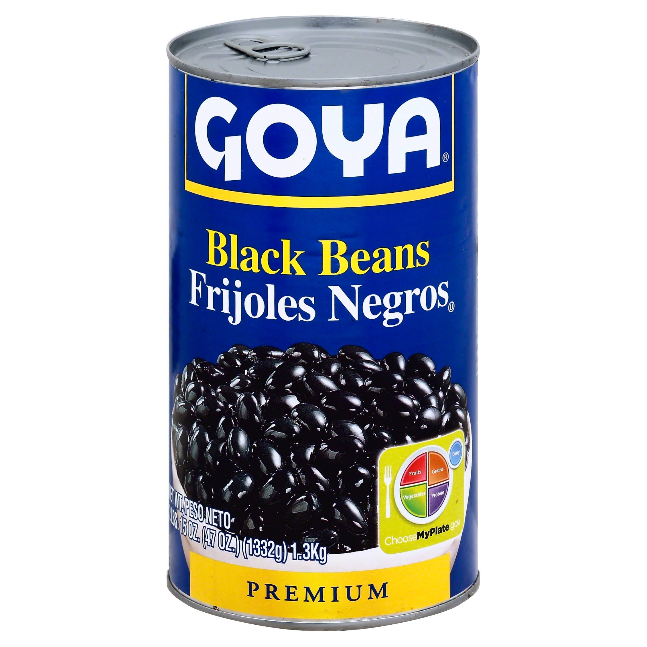Goya Black Beans - 47oz, Pack of 12