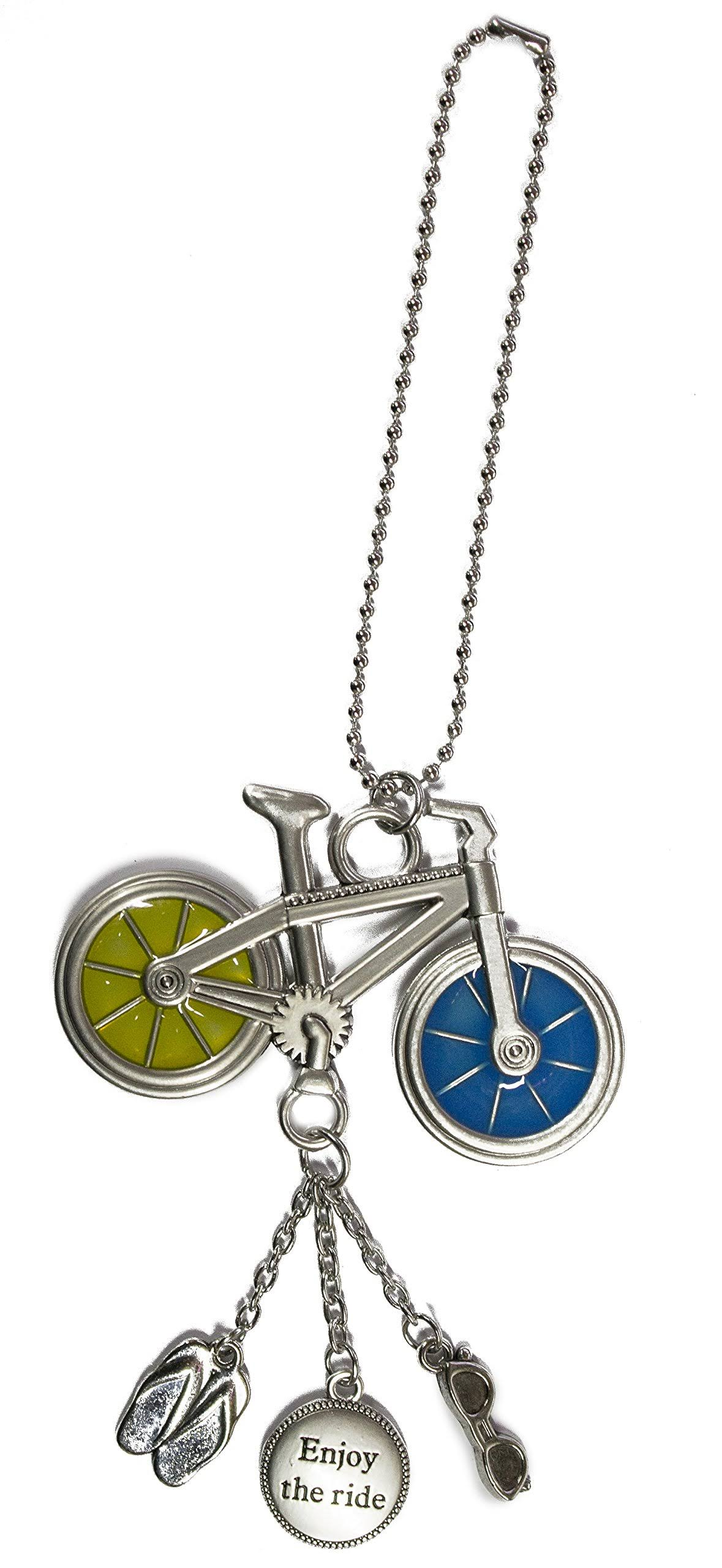 Ganz Fun in The Sun Zinc Car Charm -Bicycle (Enjoy The Ride)