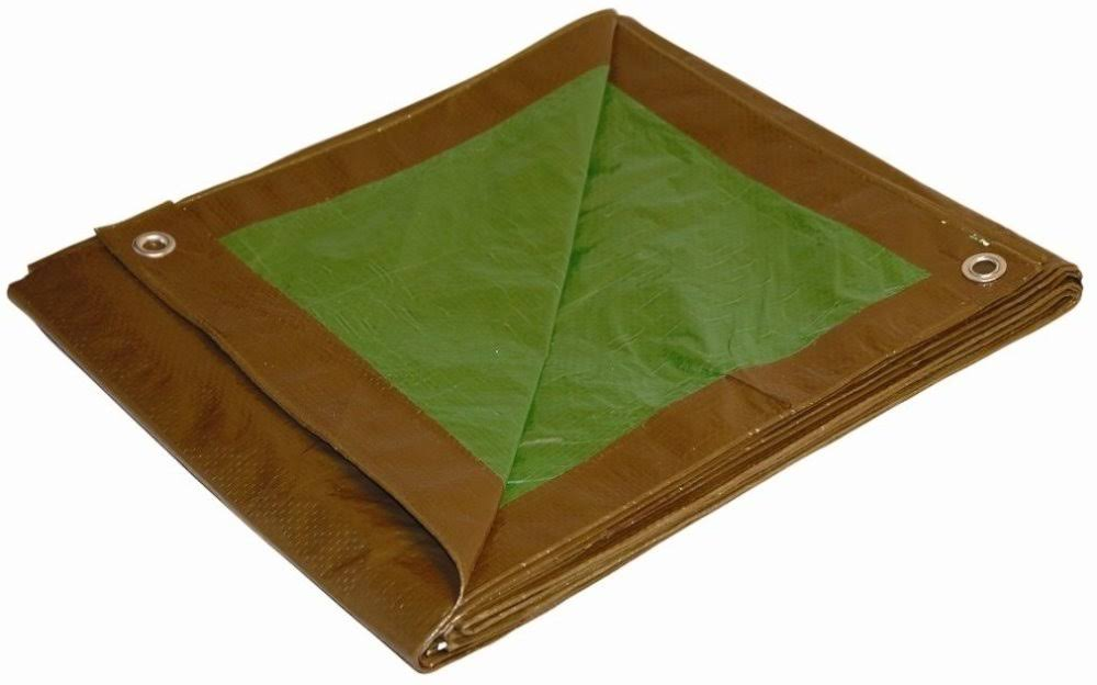 Foremost Tarps All Purpose Heavy Duty Reversible Tarp - 3m x 6m, Brown/Green