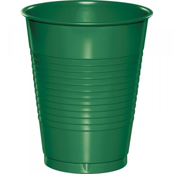Creative Converting Plastic Cups - Emerald Green, 16oz