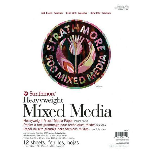 "Strathmore 500 Series Heavyweight Mixed Media 11"" x 14"" Pad"