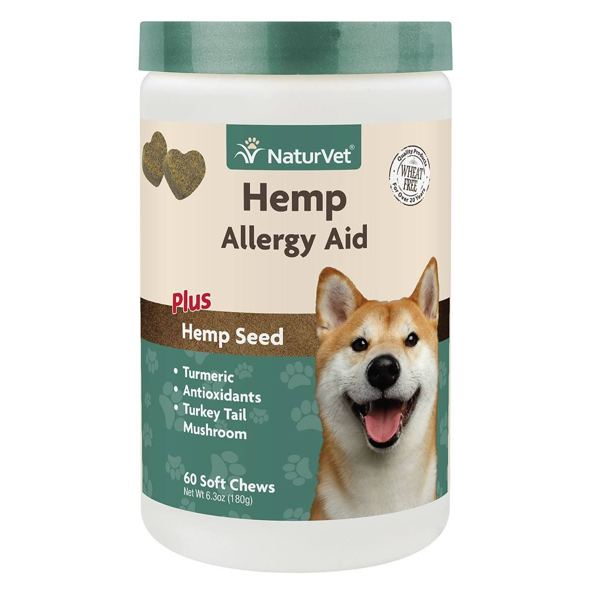 NaturVet Hemp Allergy Aid Soft Chews 60 ct