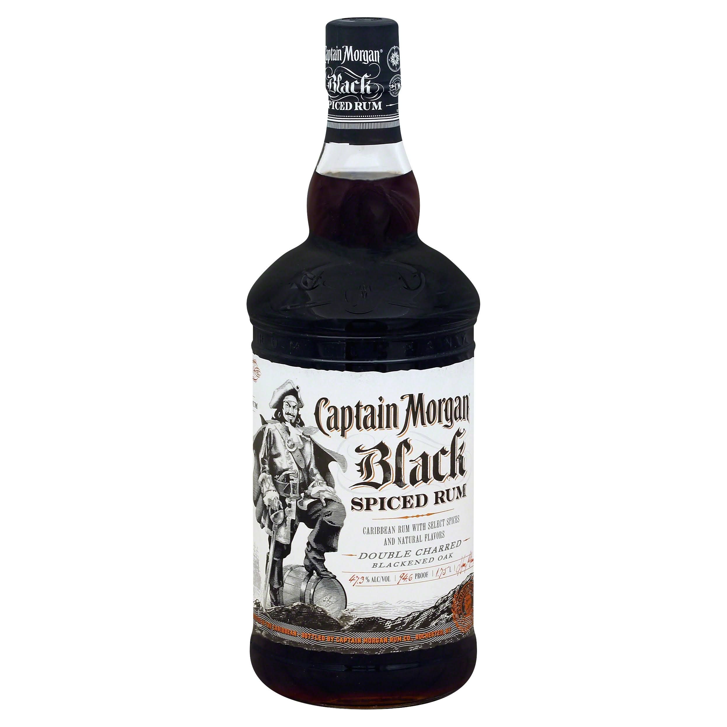 Captain Morgan Black Spiced Rum - 1.75l