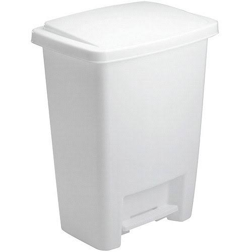 Rubbermaid Step-On Trash Can - White
