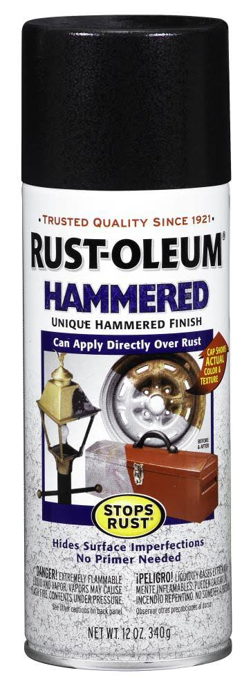 Rust-Oleum Stops Rust Hammered Spray Paint - Black, 12oz