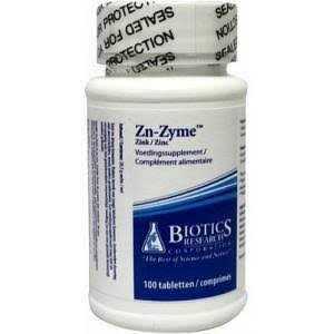 Biotics Research Zn-zyme Supplement - 15mg, 100 Tablets