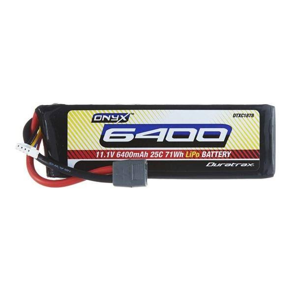 Duratrax Onyx Lipo Battery Deans Connector - 11.1V, 6400mah, 25C