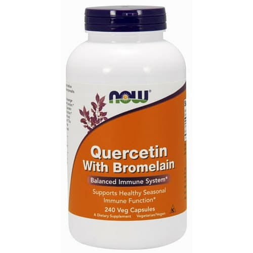 Now Foods Quercetin with Bromelain Dietary Supplement - 240 Vcaps