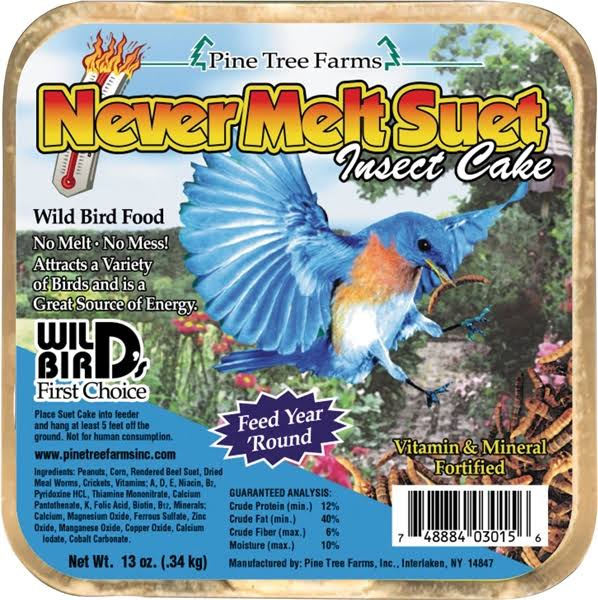 Pine Tree Farms Never Melt Suet Insect Cake - 12oz